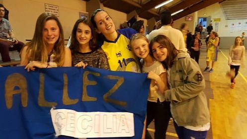 U13F encouragent Cécilia